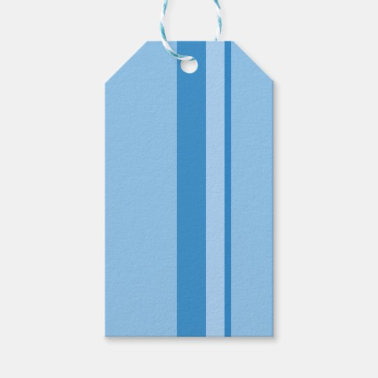Strips - blue. gift tags