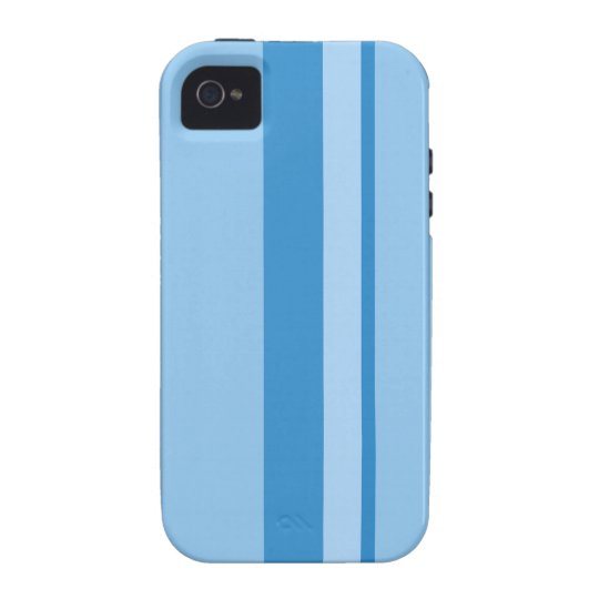 Strips - blue. iPhone 4/4S cases
