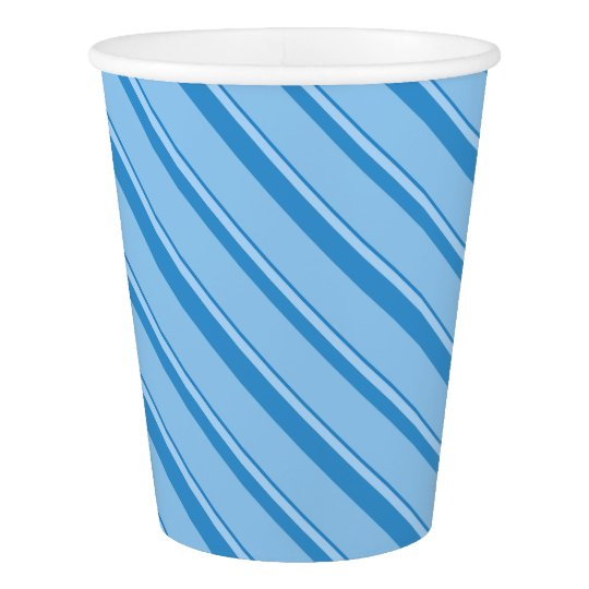 Strips - blue. paper cup