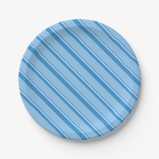 Strips - blue. paper plate