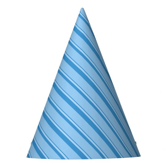 Strips - blue. party hat