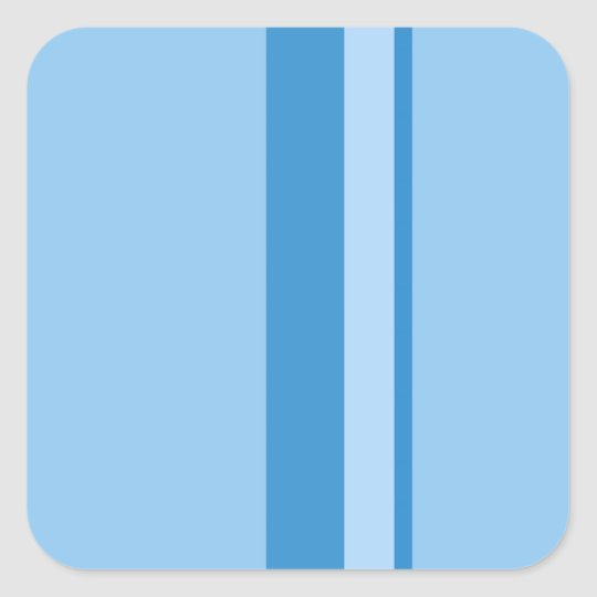 Strips - blue. square sticker