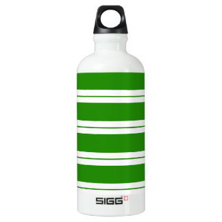 Strips - green and white water bottle
