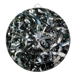 strips of garbage metal dartboard