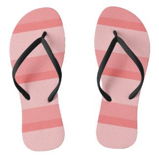 Strips - pink. flip flops