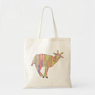 Stripy colourful Funny Goat Art Animal Design
