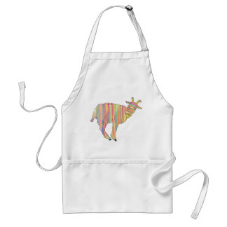 Stripy colourful Funny Goat Art Animal Design Standard Apron