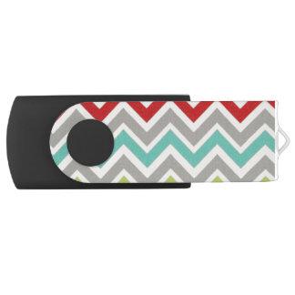 Stripy USB Swivel USB 2.0 Flash Drive