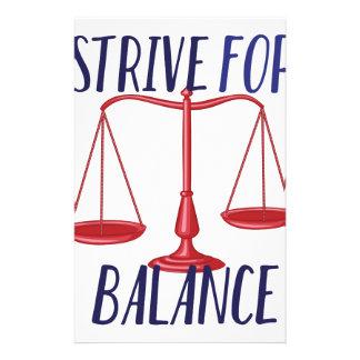 Strive For Balance Custom Stationery