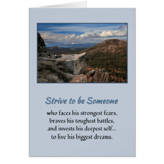 Strive to be someone...Motivational Card