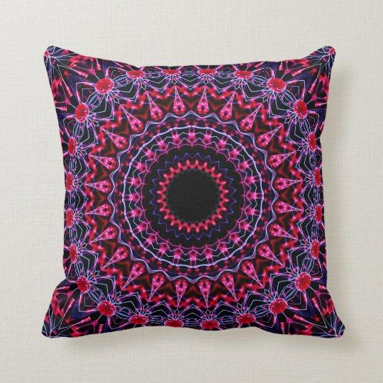 Strobe Mandala Throw Pillow