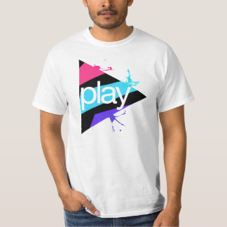 StrobeNetRecords Black Play Button Logo T-Shirt