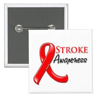 Stroke Awareness Ribbon 2 Inch Square Button