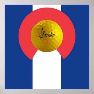 STROKE Colorado Flag Poster