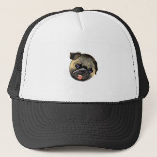 stroke my pug trucker hat