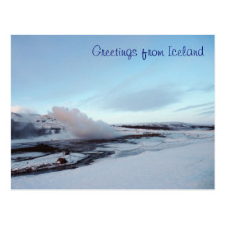 Strokkur Geyser, Iceland Postcard