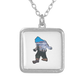 STROLL IN MOUNTAINS SILVER PLATED NECKLACE