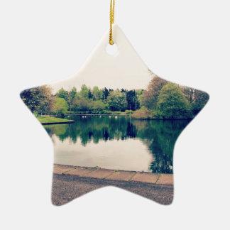 Stroll in the park ceramic star ornament