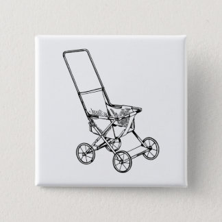 Stroller 2 Inch Square Button