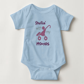 Strollin With My Homies Baby Bodysuit