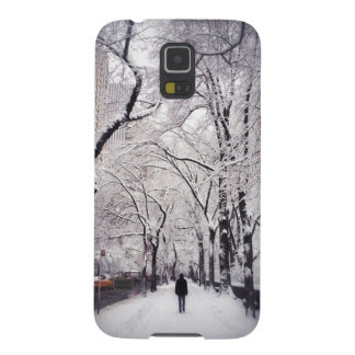 Strolling A Snowy City Sidewalk Galaxy S5 Case