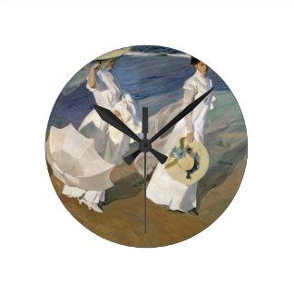 Strolling along the Seashore, 1909 Clock