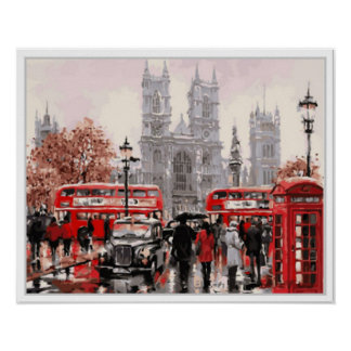 """Strolling London""  16 x 20 Wall Art"