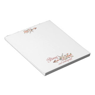 Strong and courageous notepad