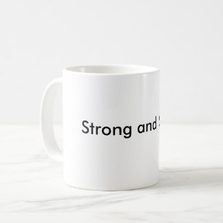 Strong and stable coffee mug