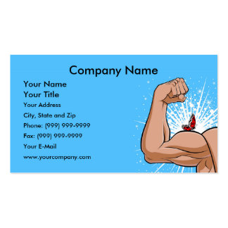 Strong Arm with Butterfly Business Card