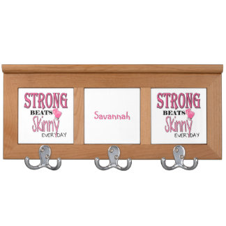 STRONG BEATS Skinny everyday! W/Pink Boxing Gloves Coat Rack