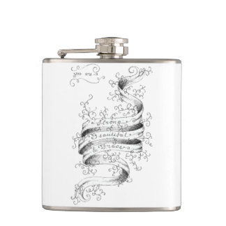 Strong, Beautiful & Brave Hip Flask