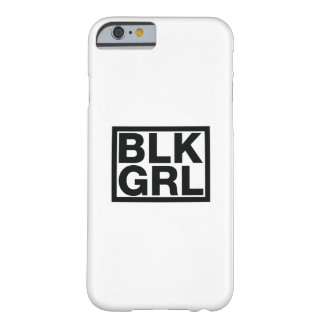 Strong Black Girl Woman s Womens Black Barely There iPhone 6 Case