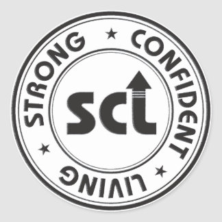 Strong Confident Living Classic Round Sticker