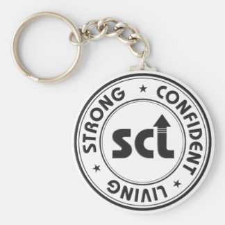 Strong Confident Living Keychain