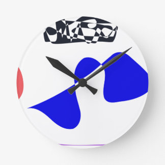 Strong Contrast Round Clock