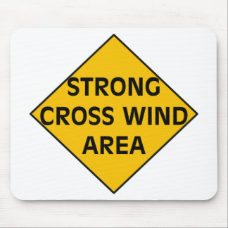 Strong Cross Wind Area Mousepad