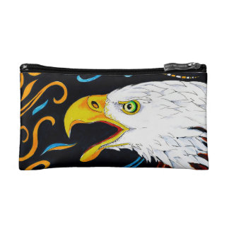Strong Eagle Ink Art Cosmetic Bag