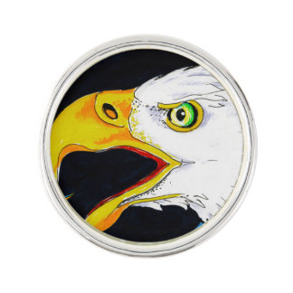 Strong Eagle Ink Art Lapel Pin