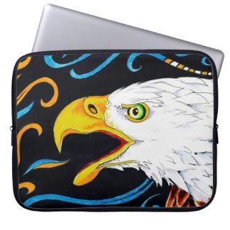 Strong Eagle Ink Art Laptop Sleeve