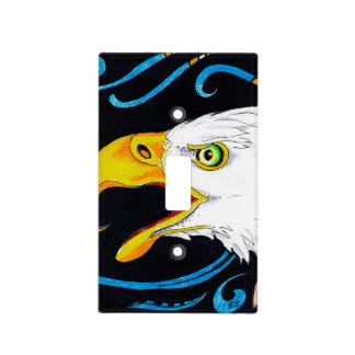 Strong Eagle Ink Art Light Switch Cover