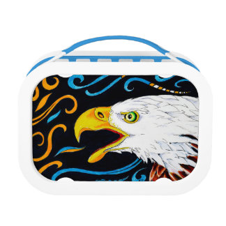 Strong Eagle Ink Art Lunch Box
