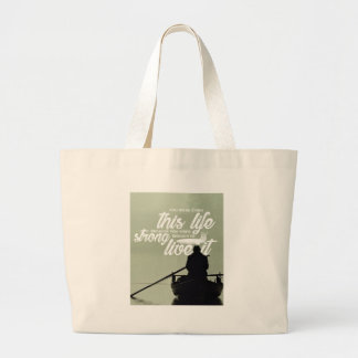 Strong Enough To Live This Life Large Tote Bag