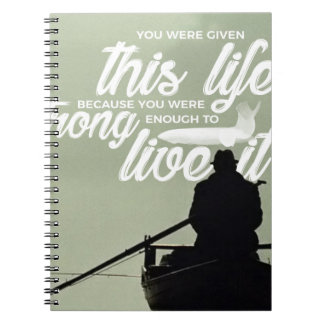 Strong Enough To Live This Life Notebook