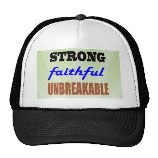 Strong Faithful Unbreakable Trucker Hat