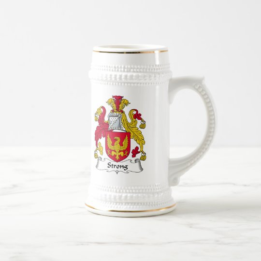 Strong Family Crest Beer Stein