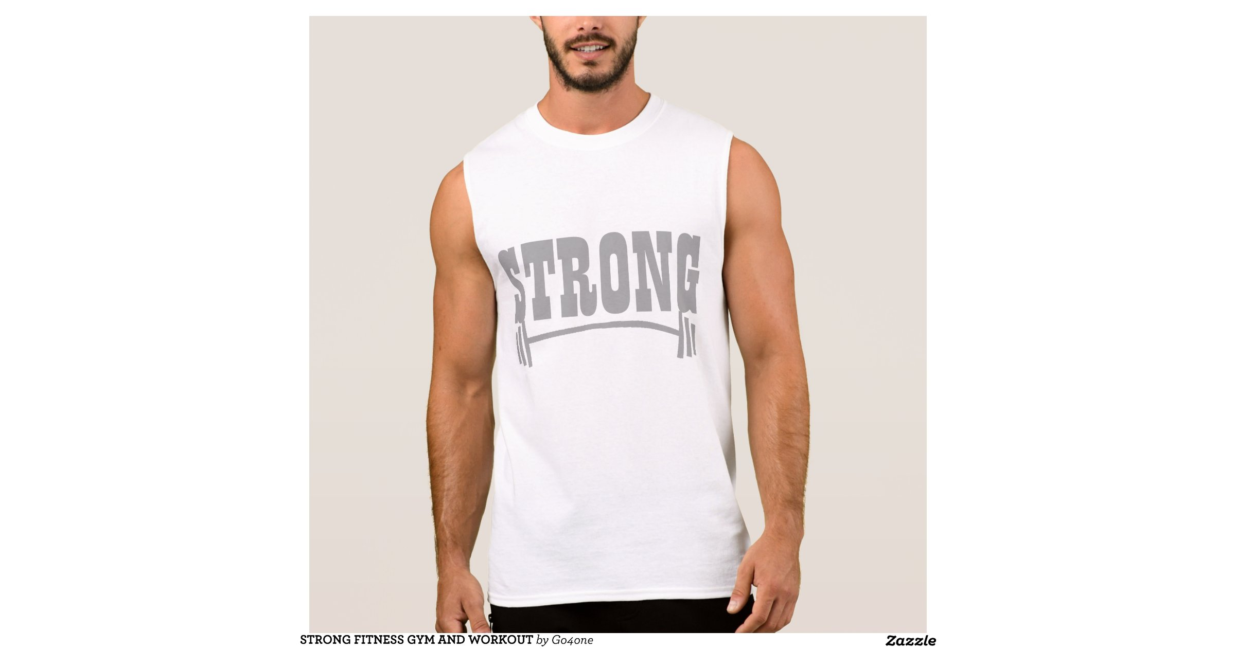Strong fitness gym and workout sleeveless shirts zazzle for Design your own workout shirt