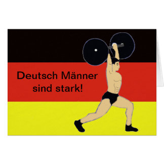 Strong German men birthday Card