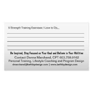 Strong Heart Strength Training Business Card