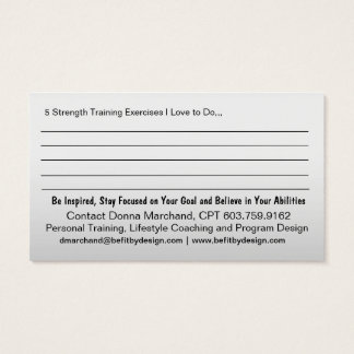 Strong Heart Strength Training Business Card